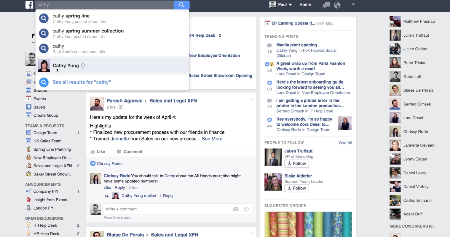 Workplace: The Facebook of team management apps   TagVA